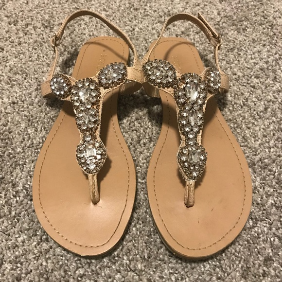 fbc52f941334a BCBGeneration Shoes - BCBG jeweled sandals